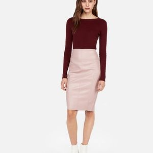 Dresses & Skirts - High Waisted Seamed (Minus The) Leather Midi Skirt